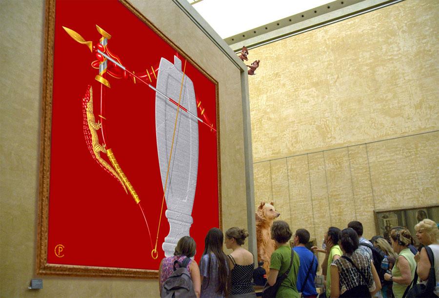 … et ceux qui ne veulent pas le voir au Musée du Louvre. Galerie fra Piero della Tralala 2